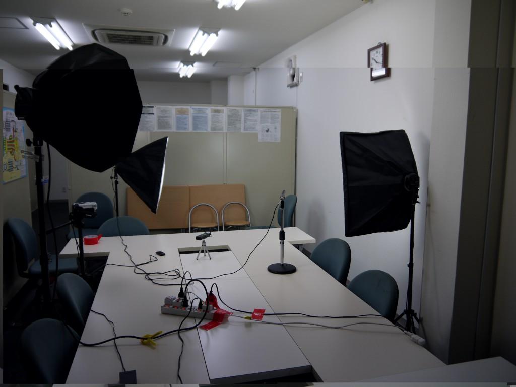 会議室での撮影